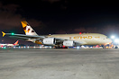 Golden Whale at night. Etihad's 3rd A380-800 starting up her all 4 x G...