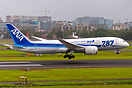 Flexing her Wings while flaring. ANA B787-8 D)L, JA805A flaring gracio...