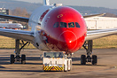 G-CKOF Norwegian 787-9 under tow during ongoing maintenance as part of...