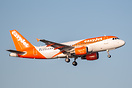 EasyJet A319 departing Shannon during a crew training exercise.