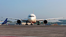 Face to Face with an angry Air India DreamLiner taxiing for her depart...
