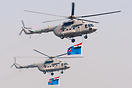 Indian Air Force Mil Mi-17V5s flying in formation over the Parade Grou...