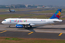 One of 2 leased A320s from Small Planet Airlines of Poland (SP-HAG and...