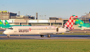 Volotea Boeing 717 preparing to depart Dublin in 2017. The type was re...