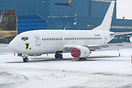 Fly Armenia Airways B737-300 stored at snowy Tallinn.