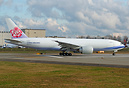 China Airlines Cargo's 3rd B777F ready to take off on her delivery fli...