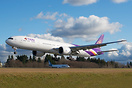 Thai Airways' latest Boeing 777 returning from paint hangar in Portlan...
