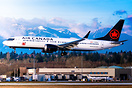 Air Canada's first MAX flight to Vancouver since recertification, in f...