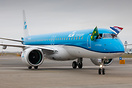 KLM Cityhopper's first Embraer E195-E2 after its first arrival at Amst...