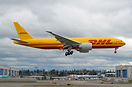 perfect side shot of latest DHL Boeing 777F