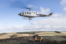 Heli lift services seen here transporting stone to the remote paths in...