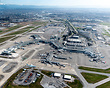 Overview of the Vancouver International Airport on a warm spring morni...