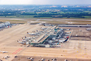 Overview Lufthansa satellite terminal 2 at Munich Airport