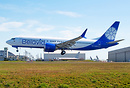 Belavia airlines latest 737-8 MAX performing final inspection flight p...