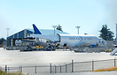 The Dreamlifter bringing in the last set of 787-9 wings before the com...
