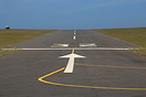 A view from the threshold of runway 32 at St. Mary's Airport showing t...