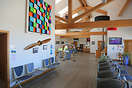 The terminal at Lands End airport serving the Isles of Scilly Skybus s...