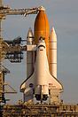 Discovery sitting on launch Pad 39B is approximately 13 hours from lif...