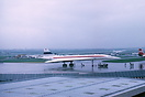1973 Paris Airshow. While Concorde pushes back the Russian TU-144 Conc...
