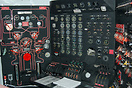 The flight engineer's panel, from where the engines are controlled at ...