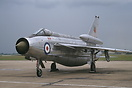 Lightning F6 operated by Bae. Note the overwing fuel tanks