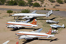 Avra Valley Airport Aerial Photograph showing DC-4s and Constellation ...