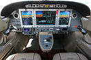 Cockpit of the new Eclipse 500 twin-engine very light jet (VLJ)
