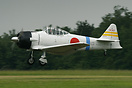 A new T6 modified as a Mitsubishi Zero, based at St-Rambert-d'Albon (F...