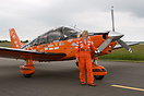 Polly Vacher at Mona on her tour around Britain in her Piper PA-28-236...