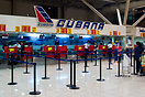 Cubana check in at Havana - Jose Marti Airport