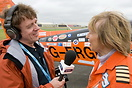 Polly Vacher being interviewed by BFBS radio on her arrival at RIAT 20...