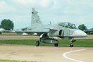 One of the 14 Gripens being leased from Saab by the Hungarian Air Forc...