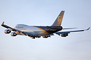 Brand new 747-400F for UPS is taking off from runway 32 intersection k...