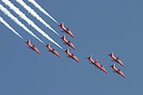 The Red Arrows perform at Jersey International Air Display
