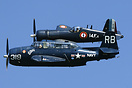 Formation flying with a F4U7 Corsair (F-AZYS)