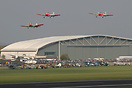 Seen here flying across a packed Duxford Airshow flightline