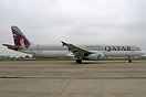 First A321 with the new Qatar c/s
