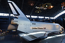 Rockwell Space Shuttle on display at the Udvar Hazy Center.