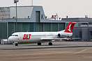 The first Jet for OLT is seen in Bremen, in front of the OLT Hangar. T...