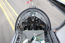 Cockpit shot of the Display Hawk at RAF Leeming 25 squadron day disban...