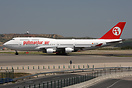 First Boeing 747-400 for Pullmantur Air also wearing a new colour sche...