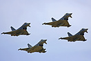 The Typhoons of Spain - UK - Italy - Germany in formation at an Airsho...