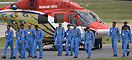 The Whole deployed Sarang Helicopter display team crew take a bow at I...