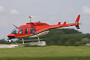 This Bell 206 was filming the events of the Breighton at home day, doi...