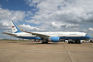 Back up/spare aircraft for President George W Bush visit to London.