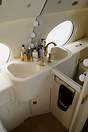 Gulfstream V washroom, with personalised items