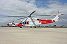 Old and new together as the AW139 takes over the watch for the Solent ...