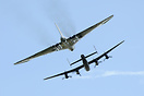 Vulcan in formation with Lancaster of BBMF