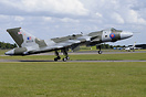The Vulcan touching down after its first public appearance after resto...