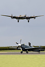 Landing over the BBMF Spitfire PS915